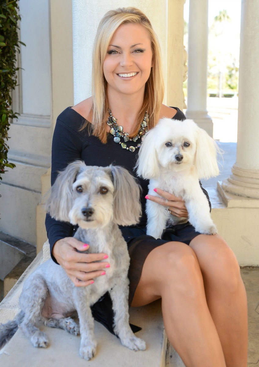 Lori Friesen and her 2 dogs