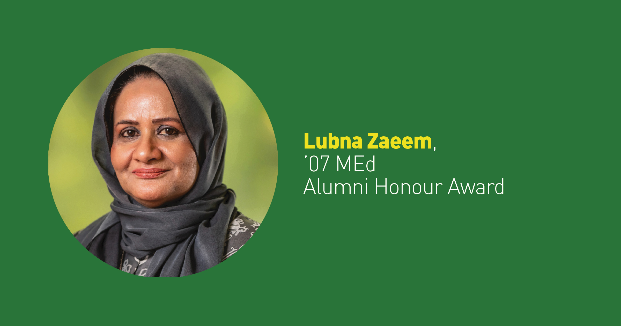 Alumni Honour winner helps ease stigma of counseling for Muslim immigrants