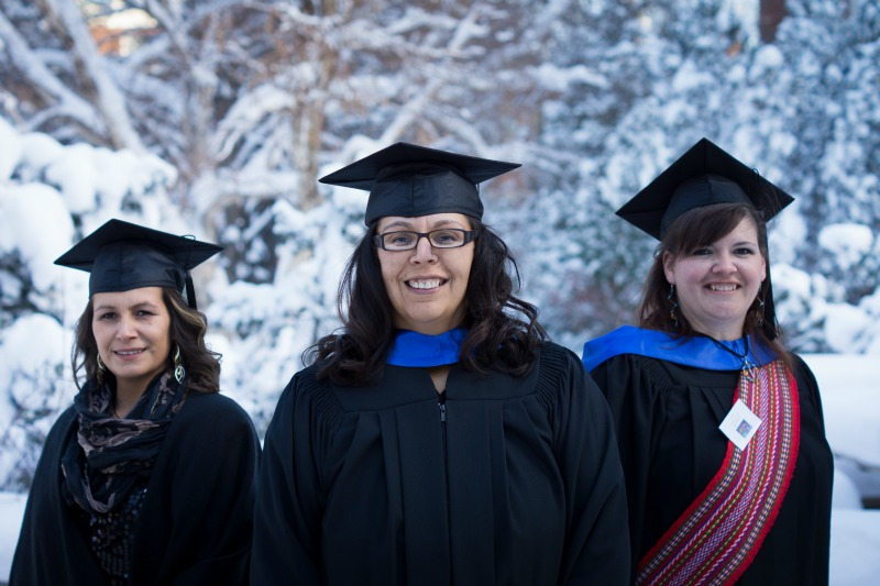 Graduates of the Faculty of Education's ATEP program at Convocation 2013