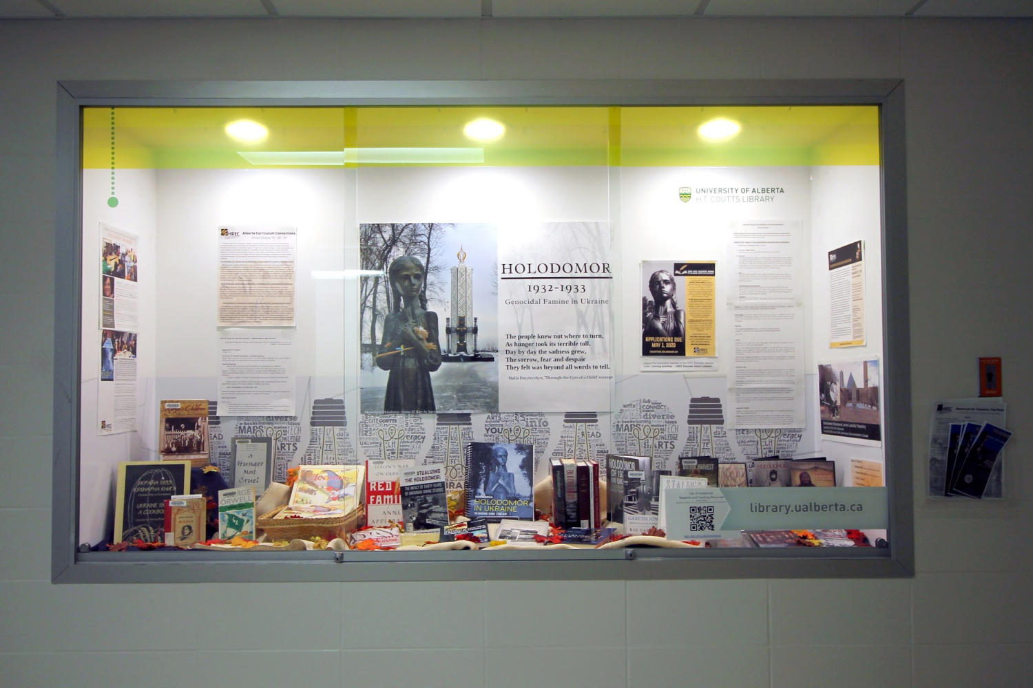 Creating Holodomor display a learning experience for UAlberta librarian