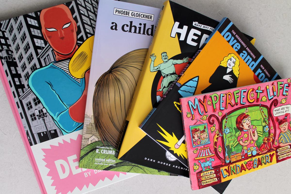 A selection of graphic novels from Education professor David Lewkowich's collection.